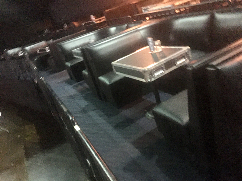 bar booths and tables close by