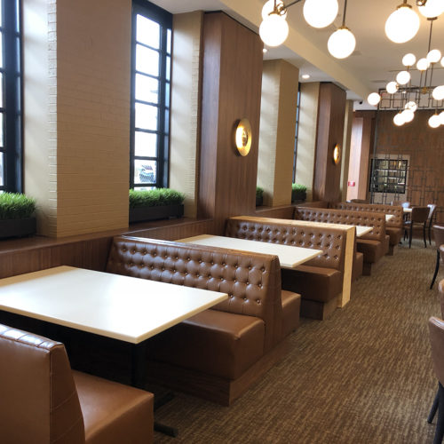 custom built banquette seating